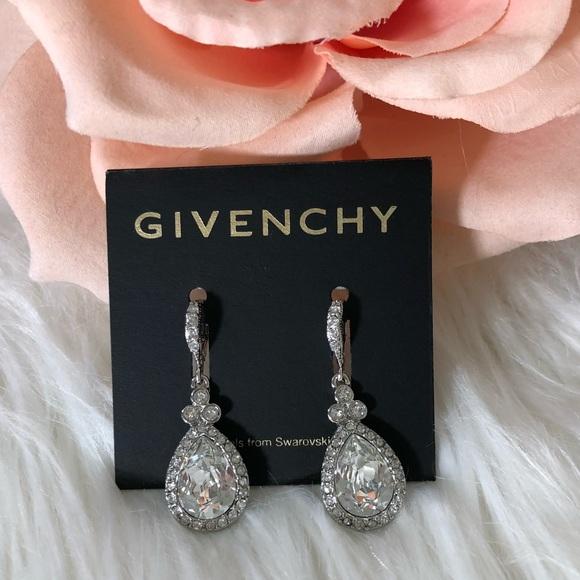 Givenchy Rose Gold Tone Swarovski Crystal Dangle Drop Earrings Nwt Fashion Jewelry Earrings
